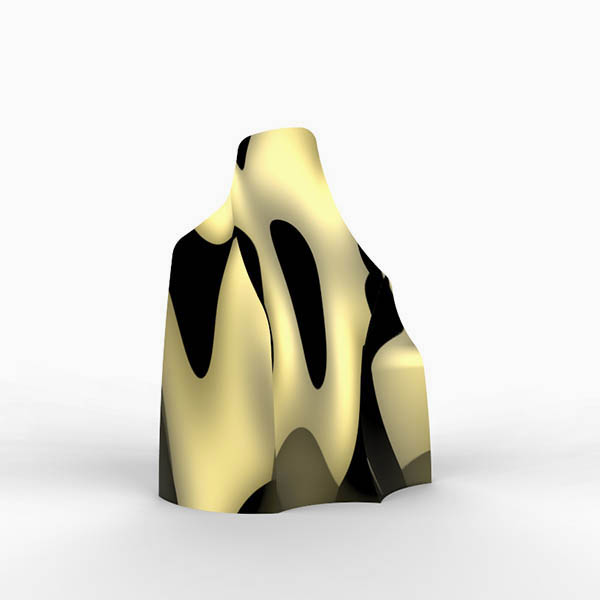 Modern gold sculpture for offices and hotels.