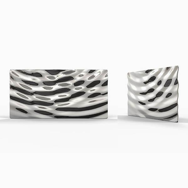Water ripple sculpture, metal wall art by Alvin Mak.