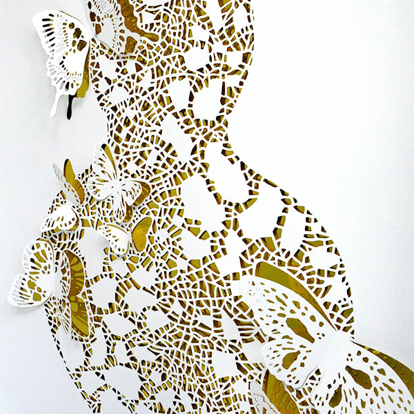 Paper cut art of butterflies by paper artist Dana Shek.
