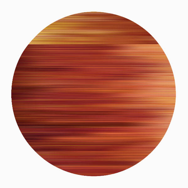 Ombre art print in a modern, circle composition.
