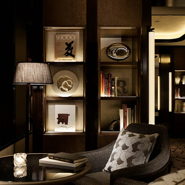 Ritz Carlton hotel decor by Hong Kong art studio Urban Impressions.