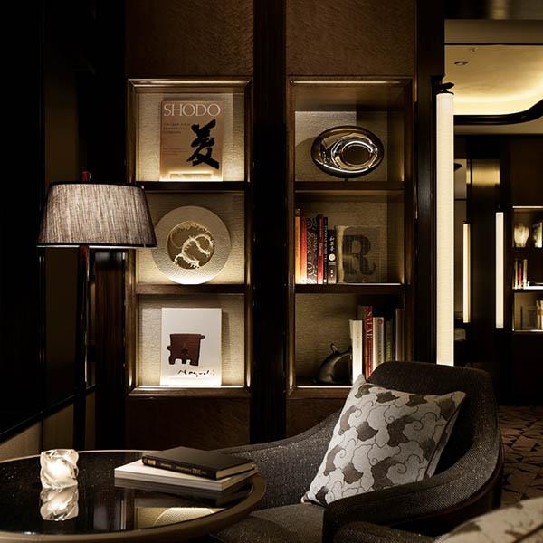 Ritz Carlton hotel decor by Hong Kong art studio Urban Impressions.