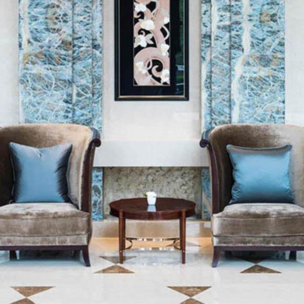 Paper collage art for The St. Regis Chengdu hotel lobby.